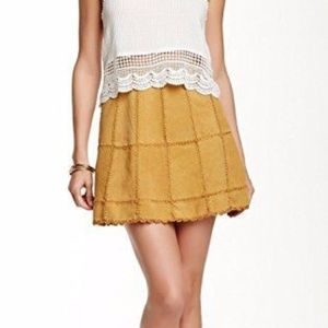 Free People Leather Patchwork Skirt